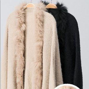 Sweaters - Fiona Furry Knit Cardigan